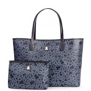 Large navy colored Canvas Kaos Mini Tote bag